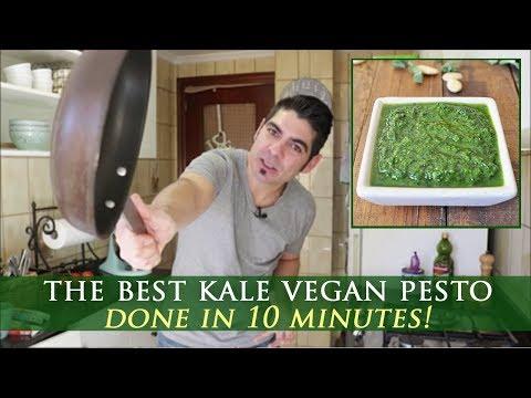Easy Vegan Pesto Recipe with Kale & Almonds