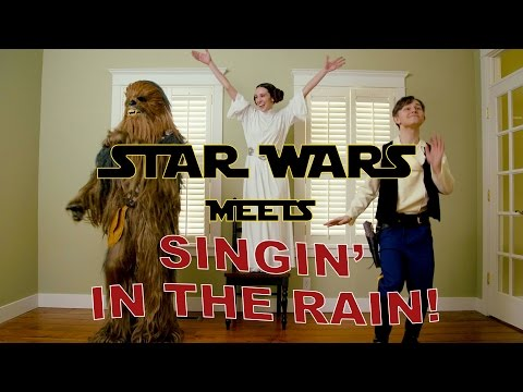 Star Wars Tribute to Carrie Fisher & Debbie Reynolds Singin' in the Rain Tap Dance