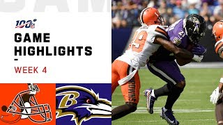 Browns vs. Ravens Week 4 Highlights   NFL 2019