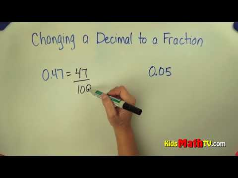 How to convert a decimal to a fraction step by step video