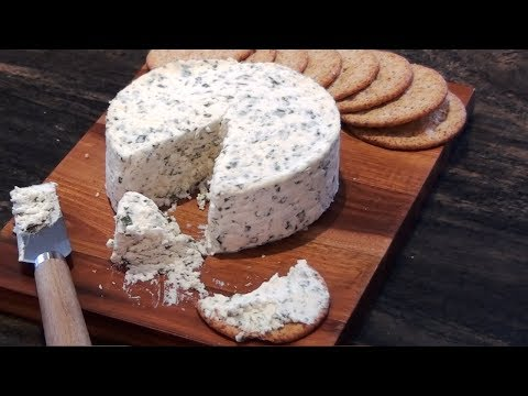 How to Make Cheese at Home - Homemade Boursin Cheese