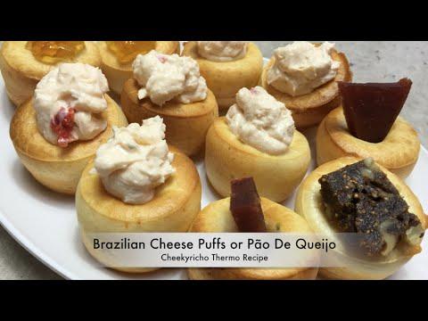 Brazilian Cheese Puffs, Pão De Queijo cheekyricho Gluten Free, Thermo Video Recipe episode 1,120