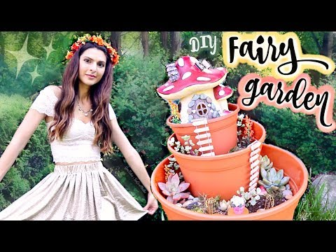 DIY FAIRY GARDEN - Miniature Succulent Planter How To // SoCraftastic