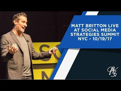 Matt Britton Live At Social Media Strategies Summit  - New York NY - 10/19/17