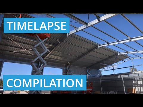 Shed Construction Timelapse Video Compilation in Perth, Western Australia