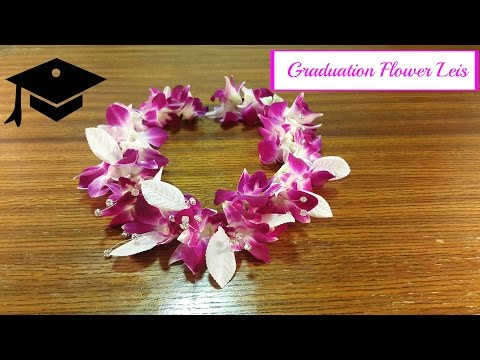 Graduation Leis Made with Real Flowers.