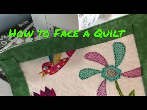 Sew With Me - How I Face An Art Quilt