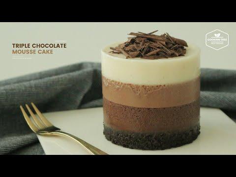 트리플 초콜릿 무스케이크 만들기 : Triple Chocolate Mousse Cake Recipe - Cooking tree 쿠킹트리*Cooking ASMR