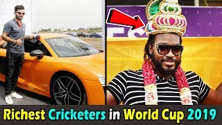 Richest cricketers in ICC Cricket World Cup 2019