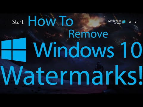 remove windows 10 activation watermark
