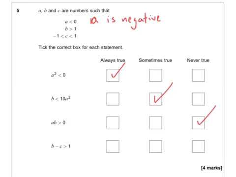 AQA Further Maths GCSE 2016 Paper 2 - Q5 - Properties of Number
