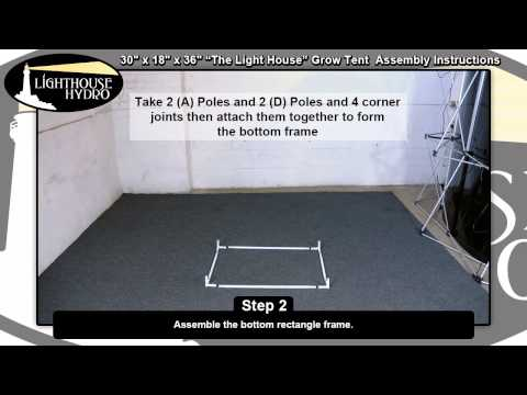 2014 Lighthouse Hydro Grow Tent - 2.5' x 1.5' x 3' Assembly Instructions