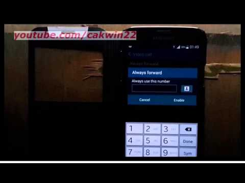 Samsung Galaxy S5 : How to enable or disable video call forwarding (Android Phone)
