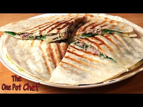 Tuna and Avocado Quesadillas | One Pot Chef