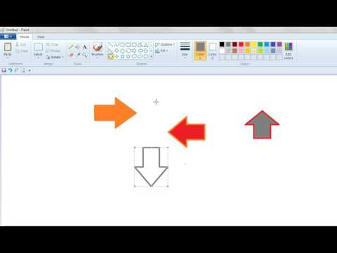How to Fill Color in Different Arrow Shapes in MS Paint