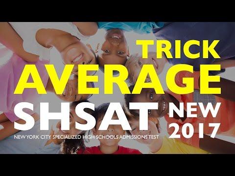 SHSAT Math: Average Trick | Specialized High School Exam | New York City | SHSAT Exam Prep