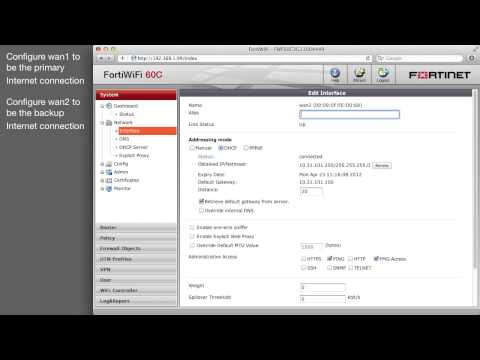 FortiGate Installing Dual Internet Link