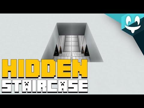 Smallest HIDDEN STAIRCASE in Minecraft! [2 WIDE]