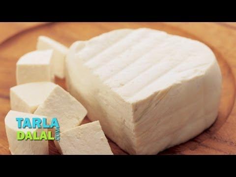 पनीर (Paneer, How to make Paneer at home) by Tarla Dalal