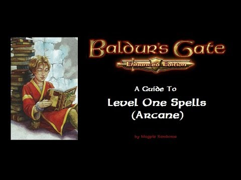 Baldur's Gate EE:  A Guide to Level One Spells (Arcane)
