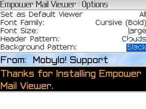Empower Mail Viewer Options