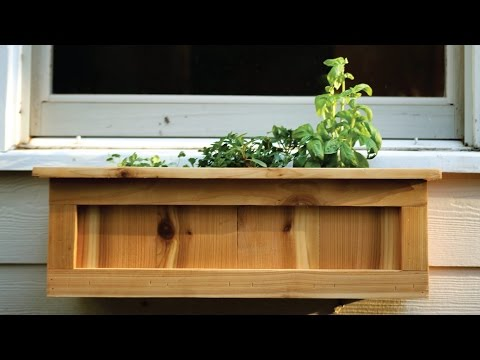 How to Make a Cedar Window Planter Box