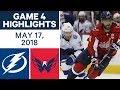 NHL Highlights Lightning Vs Capitals Game 4 May 17 2018