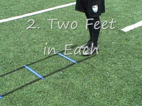Speed Agility Ladder Drills Exercises for Football Soccer Quick Feet