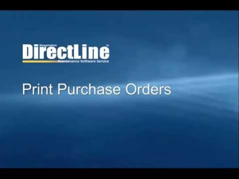 Print Purchase Orders