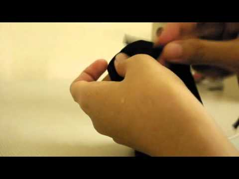 Make simple elastic cuff sleeves