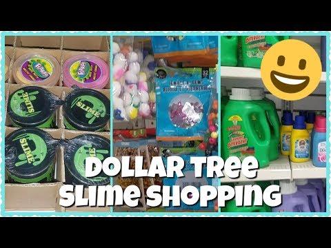 SLIME SUPPLIES SHOPPING AT DOLLAR TREE
