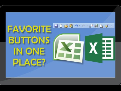Excel Tutorial - How To Set Up Custom Toolbar In Excel With Your Favorite Buttons