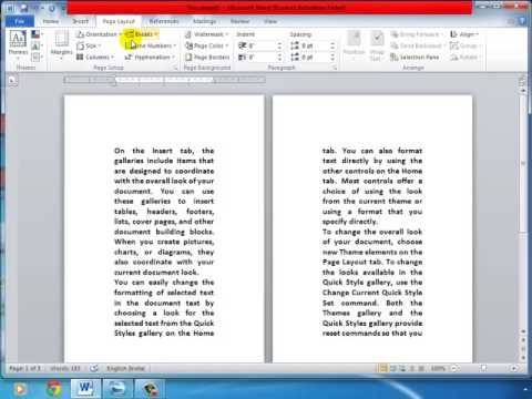 RSCIT EXAM IN HINDI WORD LECTURE 9 PAGE LAYOUT