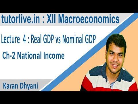 Nominal vs Real GDP & GDP Deflator :XII Macroconomics - tutorlive  # 4th Lecture