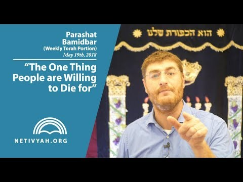 Parashat Bamidbar: The One Thing People are Willing to Die for