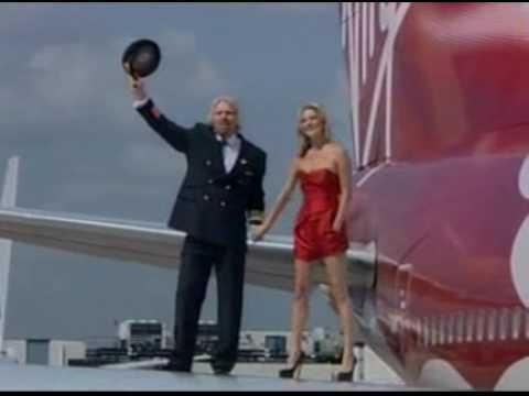 Virgin girl Kate Moss manhandled into first class by Sir Richard Branson