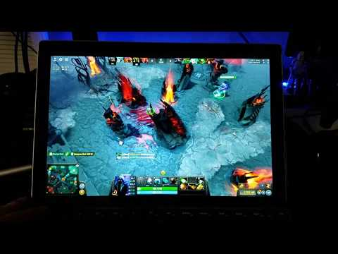 Dota 2 on the 2017 Surface pro i5 with 8gb ram