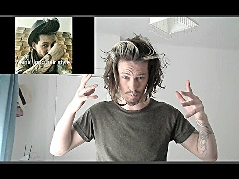 Mens Hair - Long Hairstyle Tutorial/Products