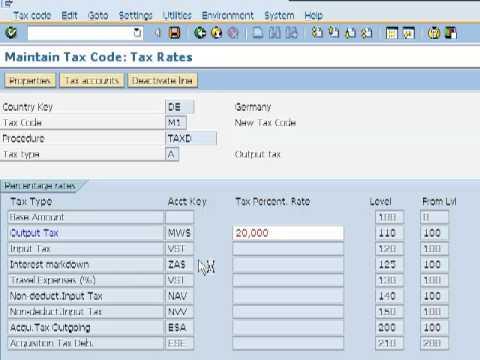 Create Tax Code