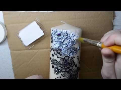 How To Seal A Henna or Mehndi Decorated Candle With Mod Podge