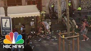 Van Crash In Barcelona, Multiple People Injured   NBC News
