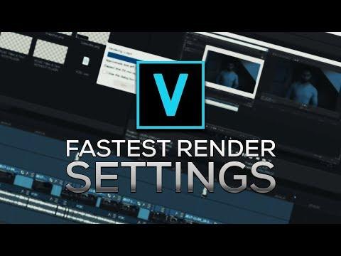 The Fastest Rendering Settings in Vegas Pro 15