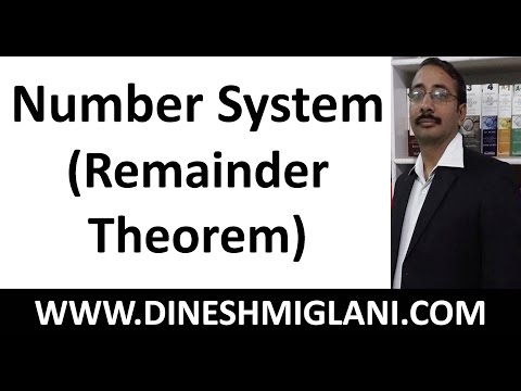 30 Typical Problems Number System (Remainder Theorem) by Dinesh Miglani