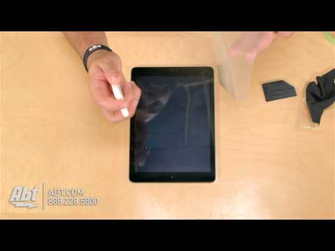 How To Put On Zagg Invisible Shield Smudge-Proof Screen Protector For iPad Air