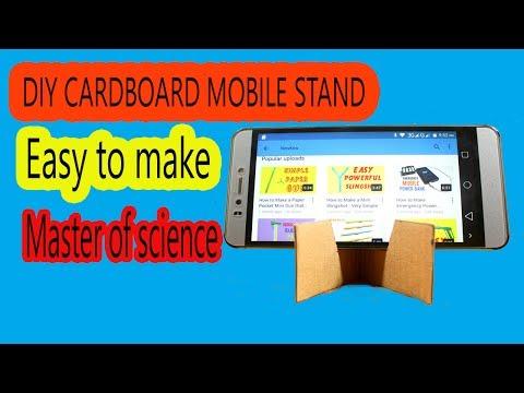 DIY Mobile phone stand using cardboard