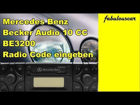 Radio Code Entry Eingabe enter eingeben | Mercedes Benz Becker Radio Audio10 CC BE3200