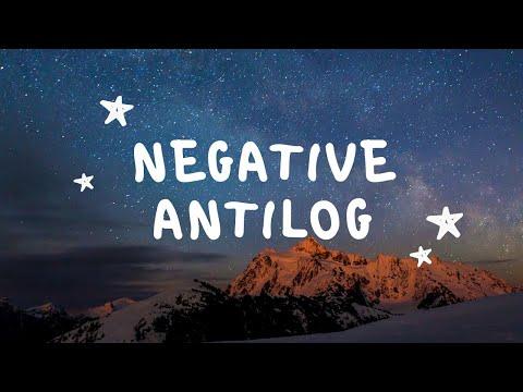 Negative number antilog and log