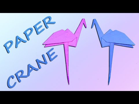 How to Make a Paper Crane   Easy Origami Paper Flapping Bird