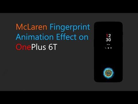 How to Enable McLaren Fingerprint Animation on OnePlus 6T