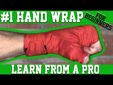 How to Wrap Hands for Boxing Muay Thai or Kickboxing | Beginner Hand Wrapping